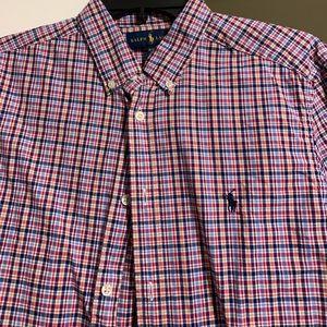 Ralph Lauren plaid button down shirt 18/20